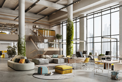 New Business「3D image of a environmentally friendly office space」:スマホ壁紙(8)