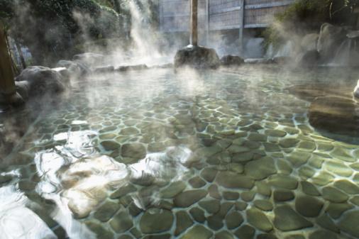 Hot Spring「Image of a Japanese Outdoor Hot Spring Bath」:スマホ壁紙(5)