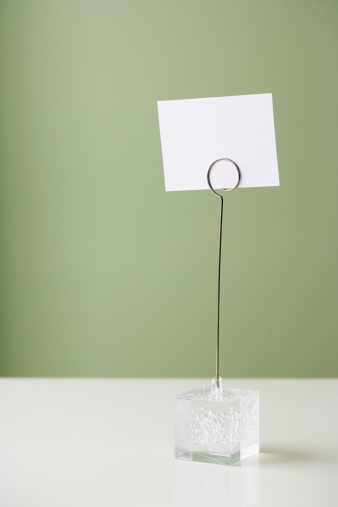 Place Card「Blank place setting card in holder」:スマホ壁紙(11)