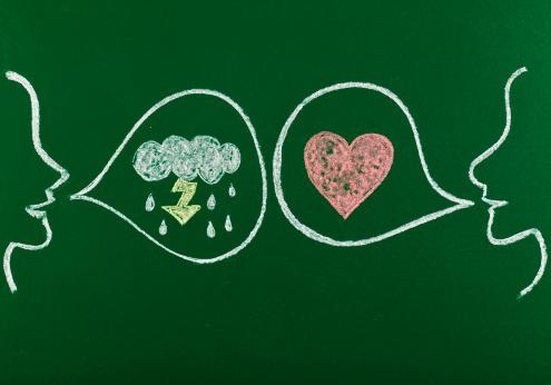 カップル「感情的な対立」:スマホ壁紙(17)