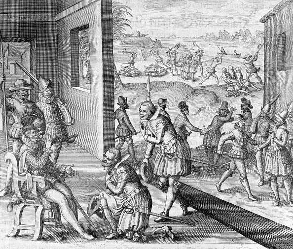 17th Century「The Spanish Capture Fort Caroline 1565 (1631)」:写真・画像(0)[壁紙.com]