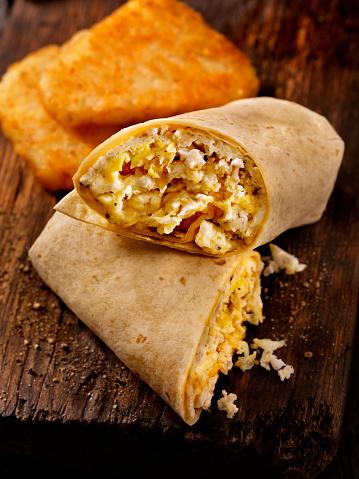 Stuffed「Scrambled Egg and Cheese Breakfast Wrap」:スマホ壁紙(0)
