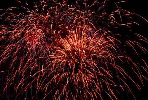 Celebration Event「Fireworks in night sky」:スマホ壁紙(8)