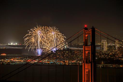 お祭り「花火、サンフランシスコ、カリフォルニア州」:スマホ壁紙(14)