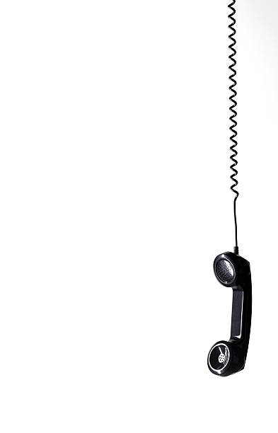 Hanging black phone with copy space:スマホ壁紙(壁紙.com)