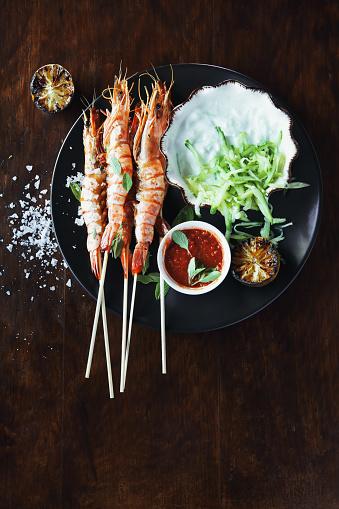 Grilled「Grilled prawn with lime yogurt dressing」:スマホ壁紙(14)