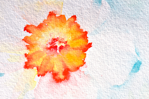 スイセン「Abstract watercolour flowers」:スマホ壁紙(8)