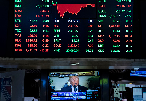 Stock Market and Exchange「Dow Jones Industrial Averages Closes Over 22,000」:写真・画像(8)[壁紙.com]