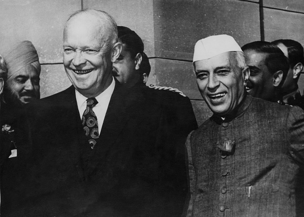 Politician「Eisenhower And Nehru」:写真・画像(3)[壁紙.com]