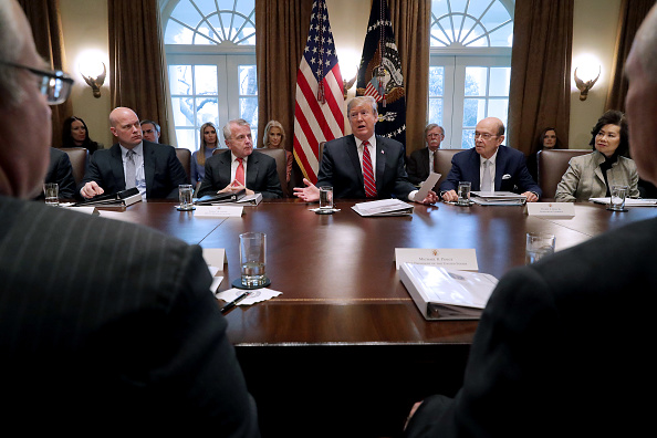 Meeting「President Trump Holds A Cabinet Meeting At The White House」:写真・画像(7)[壁紙.com]