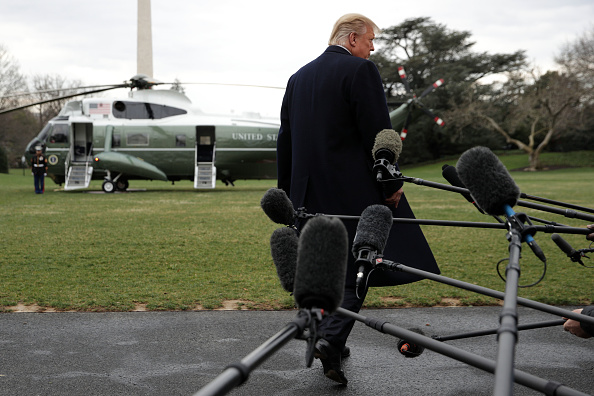 Rear View「President Trump Departs White House En Route To Palm Beach, Florida」:写真・画像(8)[壁紙.com]