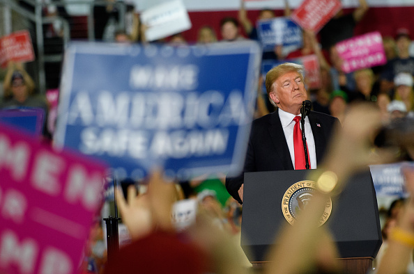 US President「President Trump Holds Rally In Erie, Pennslyvania」:写真・画像(10)[壁紙.com]