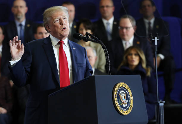 President Trump Delivers Remarks At Manchester Community College In NH:ニュース(壁紙.com)