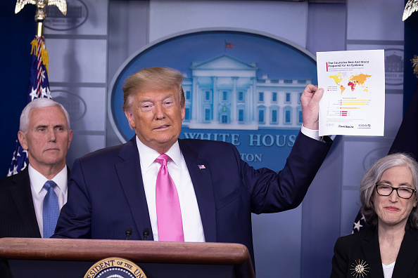 USA「President Trump Holds Press Conference With CDC Officials On Coronavirus」:写真・画像(15)[壁紙.com]