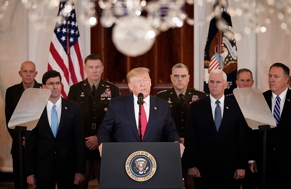 Speech「President Trump Addresses The Nation After Iranian Attacks In Iraq Target Bases Where U.S. Troops Stationed」:写真・画像(3)[壁紙.com]