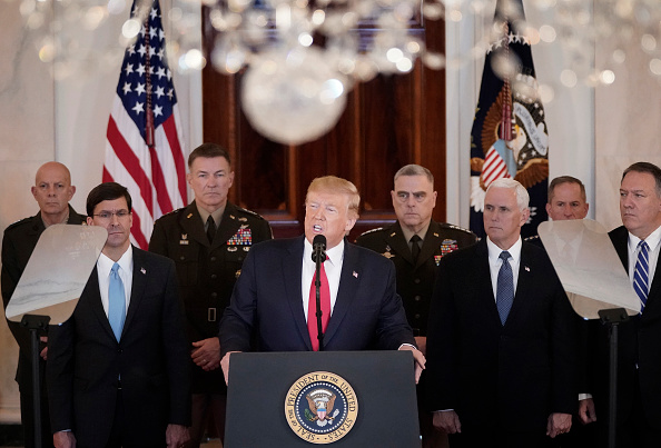 Speech「President Trump Addresses The Nation After Iranian Attacks In Iraq Target Bases Where U.S. Troops Stationed」:写真・画像(9)[壁紙.com]