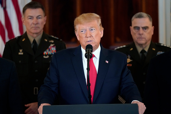 Middle East「President Trump Addresses The Nation After Iranian Attacks In Iraq Target Bases Where U.S. Troops Stationed」:写真・画像(15)[壁紙.com]