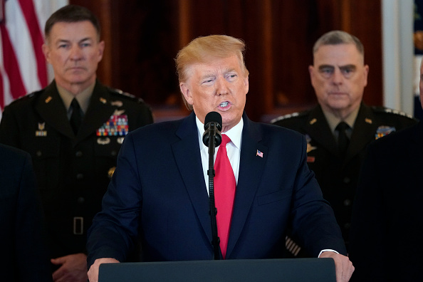 Middle East「President Trump Addresses The Nation After Iranian Attacks In Iraq Target Bases Where U.S. Troops Stationed」:写真・画像(6)[壁紙.com]