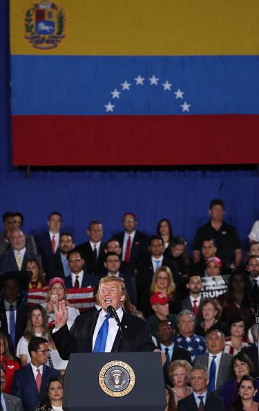 Florida International University「President Trump Speaks To Venezuelan Community In Miami At Florida International University」:写真・画像(16)[壁紙.com]