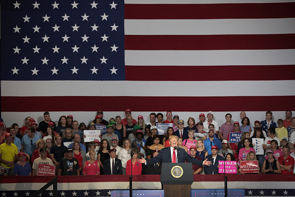 オハイオ州「Donald Trump Holds Rally, Campaigns For Troy Balderson, In Ohio」:写真・画像(11)[壁紙.com]