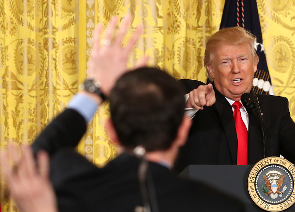 Press Conference「President Trump Holds News Conference In East Room Of White House」:写真・画像(8)[壁紙.com]