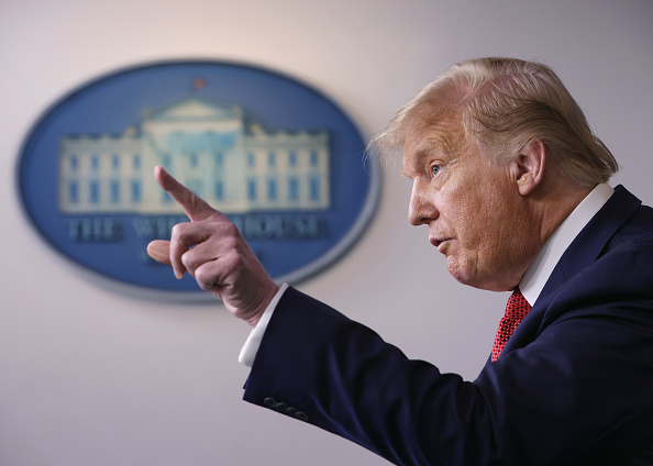 The End「President Trump Holds A Press Briefing At The White House」:写真・画像(15)[壁紙.com]
