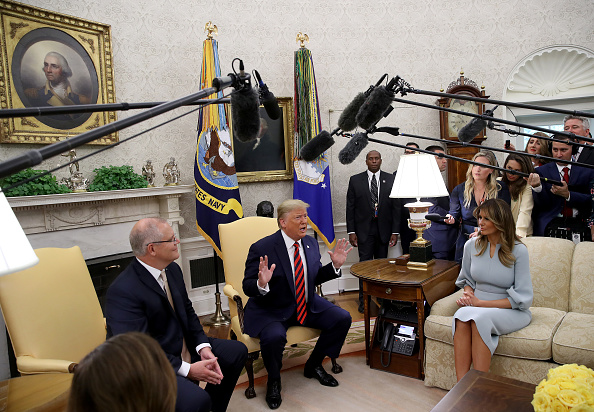 Win McNamee「President Trump Welcomes Australian Prime Minister Scott Morrison To The Washington On State Visit」:写真・画像(11)[壁紙.com]