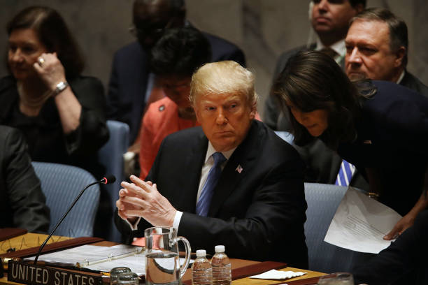 President Donald Trump Chairs UN Security Council Meeting On Iran:ニュース(壁紙.com)