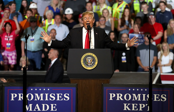 MAGA「President Trump Holds Rally In Great Falls, Montana」:写真・画像(7)[壁紙.com]