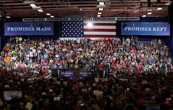MAGA「President Trump Holds Rally In Great Falls, Montana」:写真・画像(9)[壁紙.com]