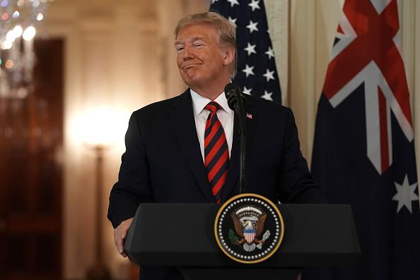 Smiling「President Trump Welcomes Australian Prime Minister Scott Morrison To The Washington On State Visit」:写真・画像(9)[壁紙.com]