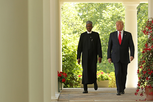 全身「Trump And Nigerian President Buhari Hold Joint Press Conference In Rose Garden」:写真・画像(17)[壁紙.com]