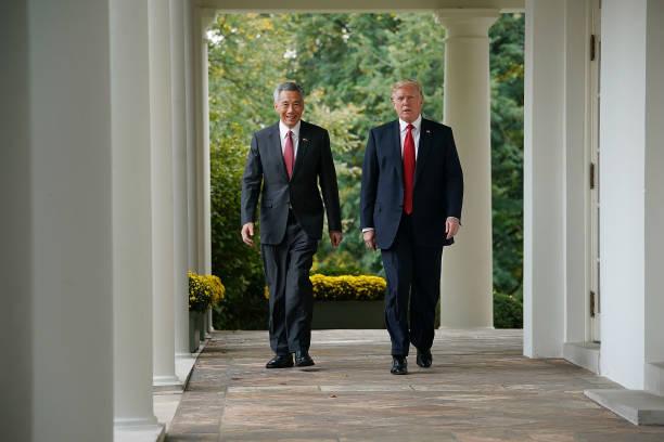 政治と行政「President Trump And Singapore PM Loong Give Joint Statements At White House」:写真・画像(1)[壁紙.com]