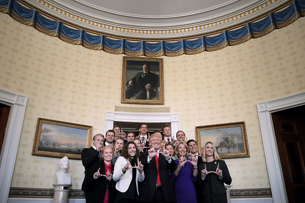 Skiing「President Trump Hosts NCAA National Championship Teams To The White House」:写真・画像(4)[壁紙.com]