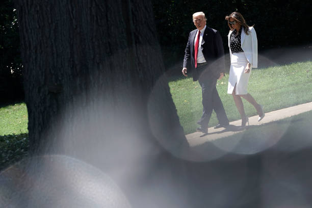 President Trump Departs White House En Route To Ohio:ニュース(壁紙.com)