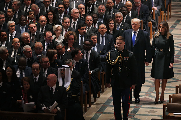 Funeral「State Funeral Held For George H.W. Bush At The Washington National Cathedral」:写真・画像(9)[壁紙.com]
