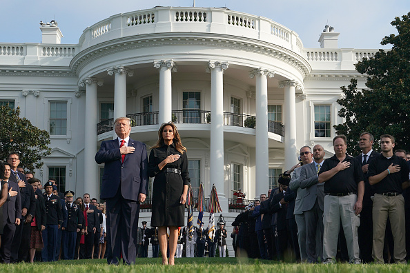 Outdoors「President And Mrs Trump Participate In Moment Of Silence On Anniversary Of 9/11」:写真・画像(17)[壁紙.com]