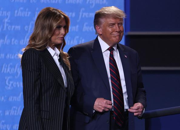 Melania Trump「Donald Trump And Joe Biden Participate In First Presidential Debate」:写真・画像(16)[壁紙.com]