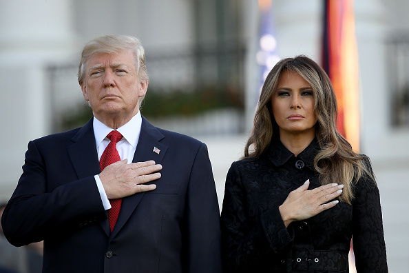 Hand「President Trump And Melania Trump Lead Moment Of Silence For 9/11 Victims」:写真・画像(8)[壁紙.com]
