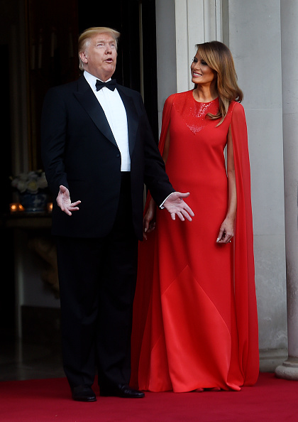 Evening Gown「U.S. President Trump's State Visit To UK - Day Two」:写真・画像(8)[壁紙.com]