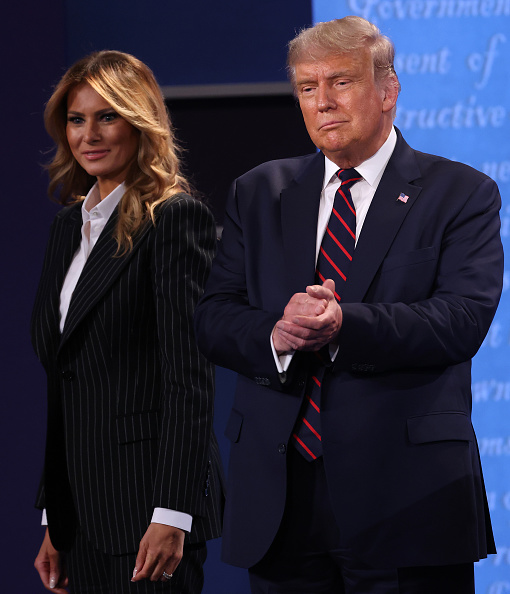Melania Trump「Donald Trump And Joe Biden Participate In First Presidential Debate」:写真・画像(15)[壁紙.com]