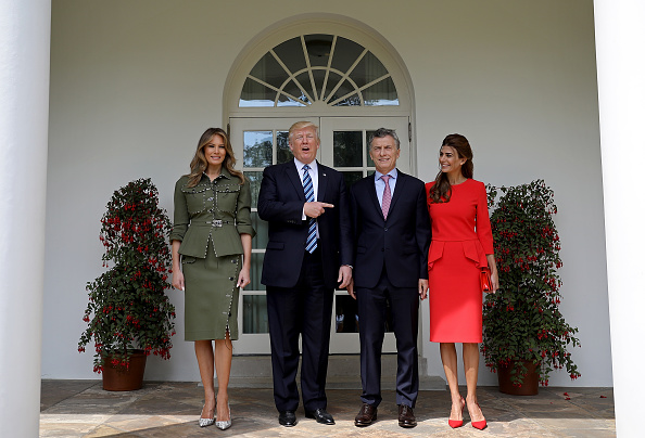 Full Length「President Trump Welcomes President Of Argentina Mauricio Macri To The White House」:写真・画像(9)[壁紙.com]