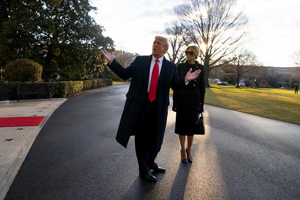 Leaving「President Trump Departs White House For Final Time In His Presidency」:写真・画像(4)[壁紙.com]