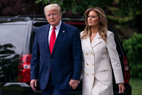 Melania Trump「President Trump Departs White House For Memorial Day Ceremony In Baltimore」:写真・画像(4)[壁紙.com]