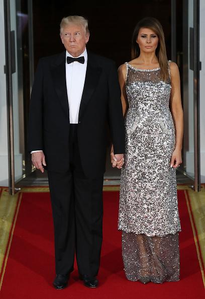 全身「President Trump And First Lady Hosts State Dinner For French President Macron And Mrs. Macron」:写真・画像(11)[壁紙.com]