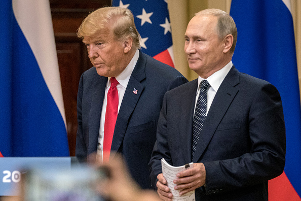 Donald Trump - US President「President Trump And President Putin Hold A Joint Press Conference After Summit」:写真・画像(18)[壁紙.com]