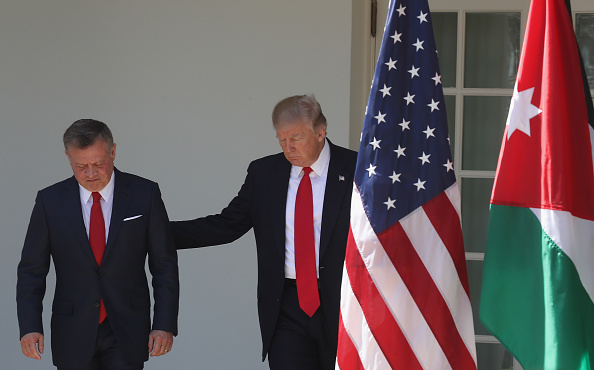 King Abdullah II of Jordan「Trump Holds Joint Press Conf. With King Abdullah II Of Jordan At White House」:写真・画像(12)[壁紙.com]