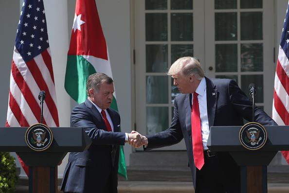 King Abdullah II of Jordan「Trump Holds Joint Press Conf. With King Abdullah II Of Jordan At White House」:写真・画像(10)[壁紙.com]