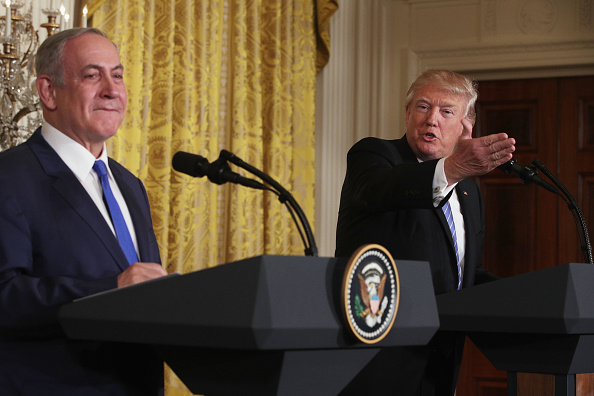 Alex Wong「Donald Trump Holds Joint Press Conference With Israeli PM Netanyahu」:写真・画像(11)[壁紙.com]