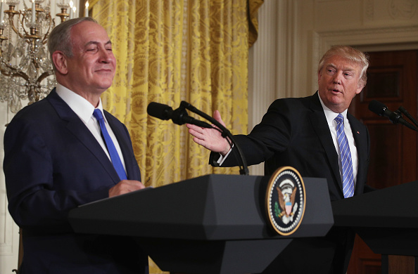 Alex Wong「Donald Trump Holds Joint Press Conference With Israeli PM Netanyahu」:写真・画像(12)[壁紙.com]